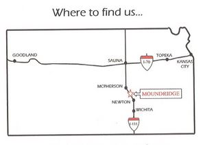 Where to Find Us Map of Kansas